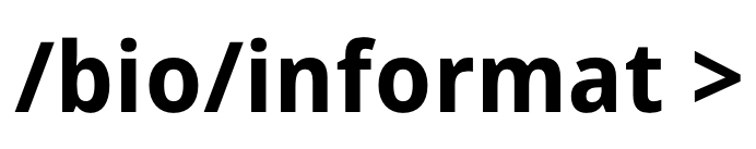 Bioinformat Lab / Facility Logo