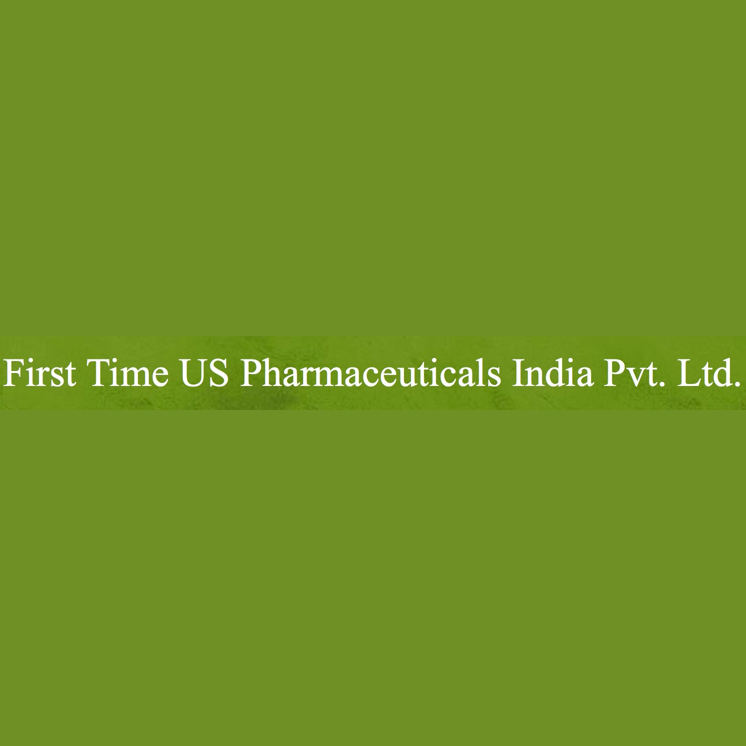 First Time US Pharmaceuticals India Lab / Facility Logo