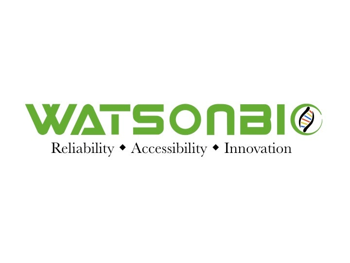 WatsonBio Sciences Lab / Facility Logo